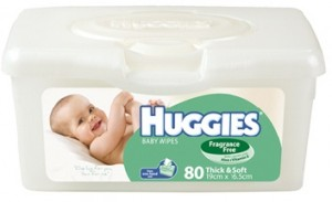Huggies Baby Wipes Fragrance Free Tub 80 pack