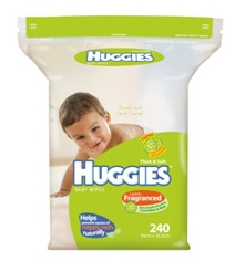 Huggies Baby Wipes Lightly Fragranced Cucumber Aloe Refill 240 pack