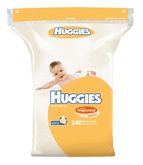 Huggies Baby Wipes Lightly Fragranced Shea Butter 240 pack