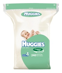 Huggies Baby Wipes Fragrance Free Refill 240 pack